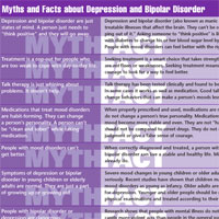 Myths and Facts about Depression and Bipolar Disorder: New Life Outlook  Infographic