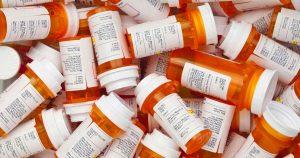 Pile of pill bottles